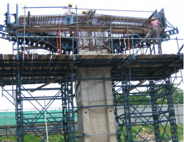 Front view of crosshead construction