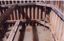 Construction of cofferdam for pilecap (inclusive of struting)
