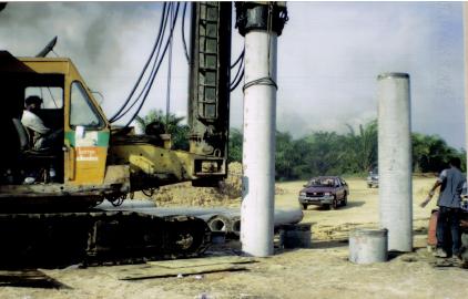 600mm diameter Spun Piling and Load Test