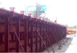 Side View of I-Beams Steel Forms