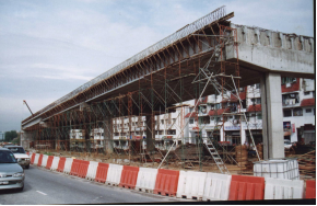 Construction of bridge deck facia & parapet