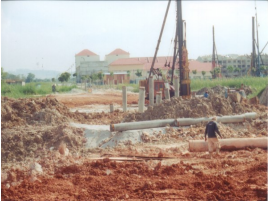 Piling at Abutment A