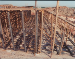 Rebar at Abutment A, Pile Cap.